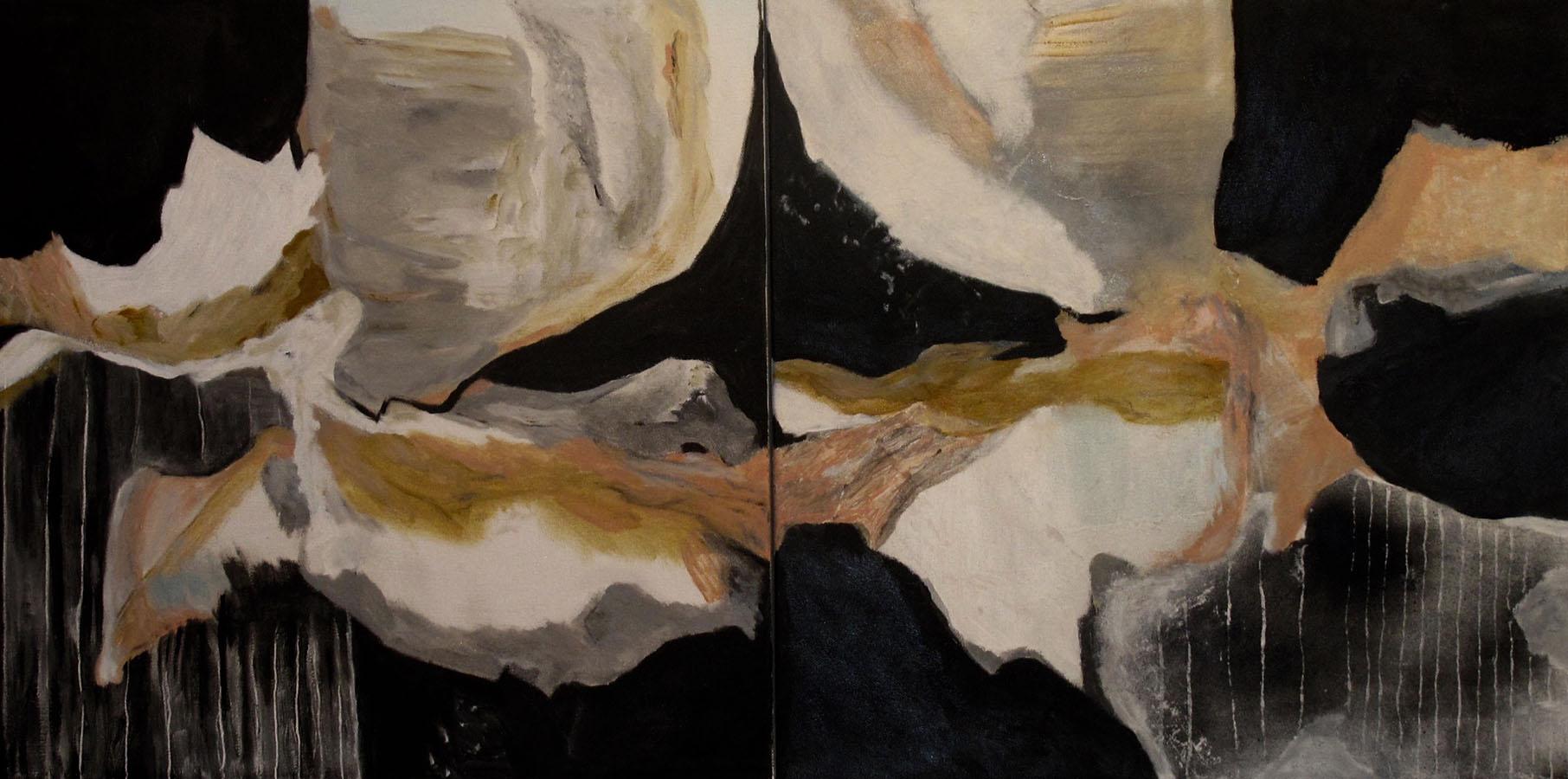 """Diptych,AcrylicOnCanvas,20x40"""",2018"""