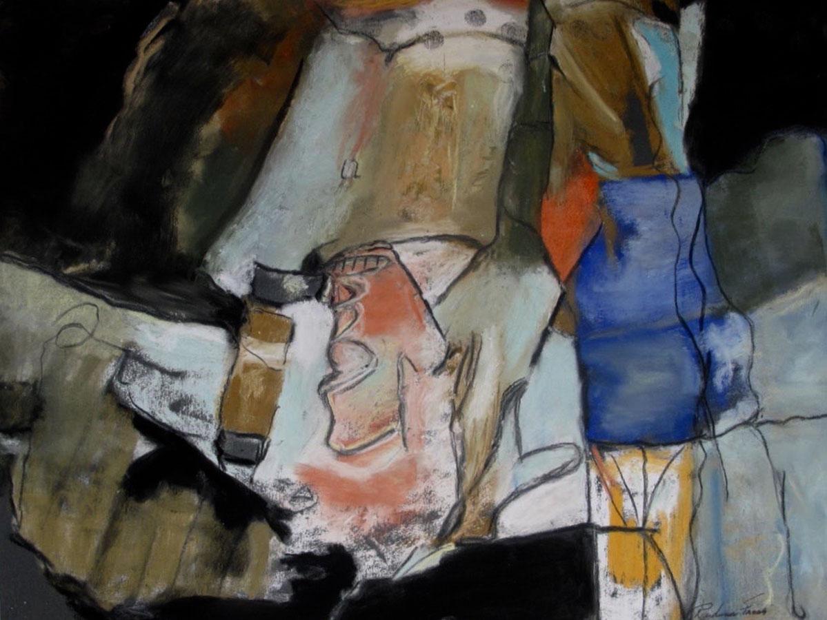 "InTheAttic,Acrylics,PastelsOnPaper,16x20"",2017"
