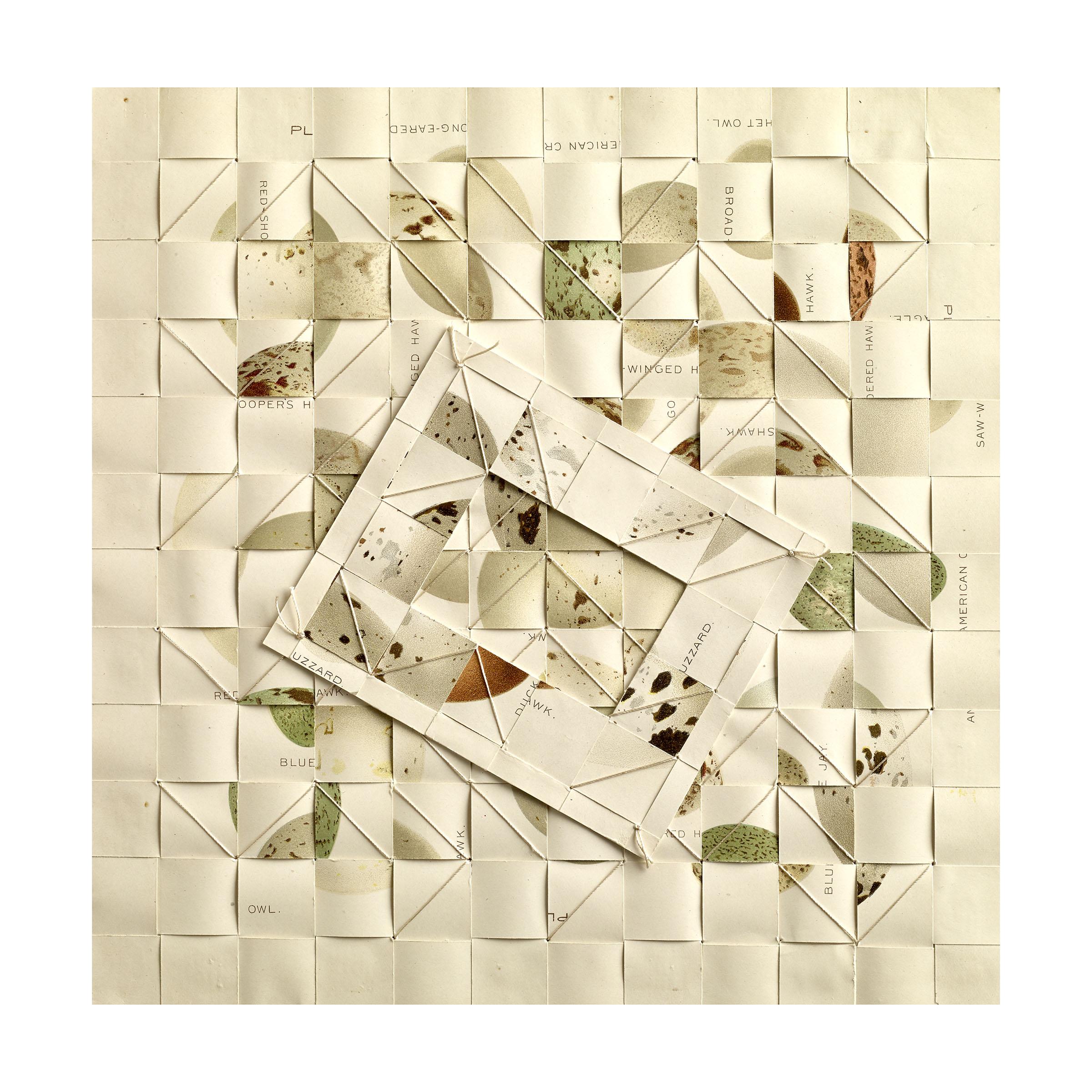 Kunstadt_OVUM VIII_Breakthrough_ silk thread, paper-1897 bookplates 9 x9 in