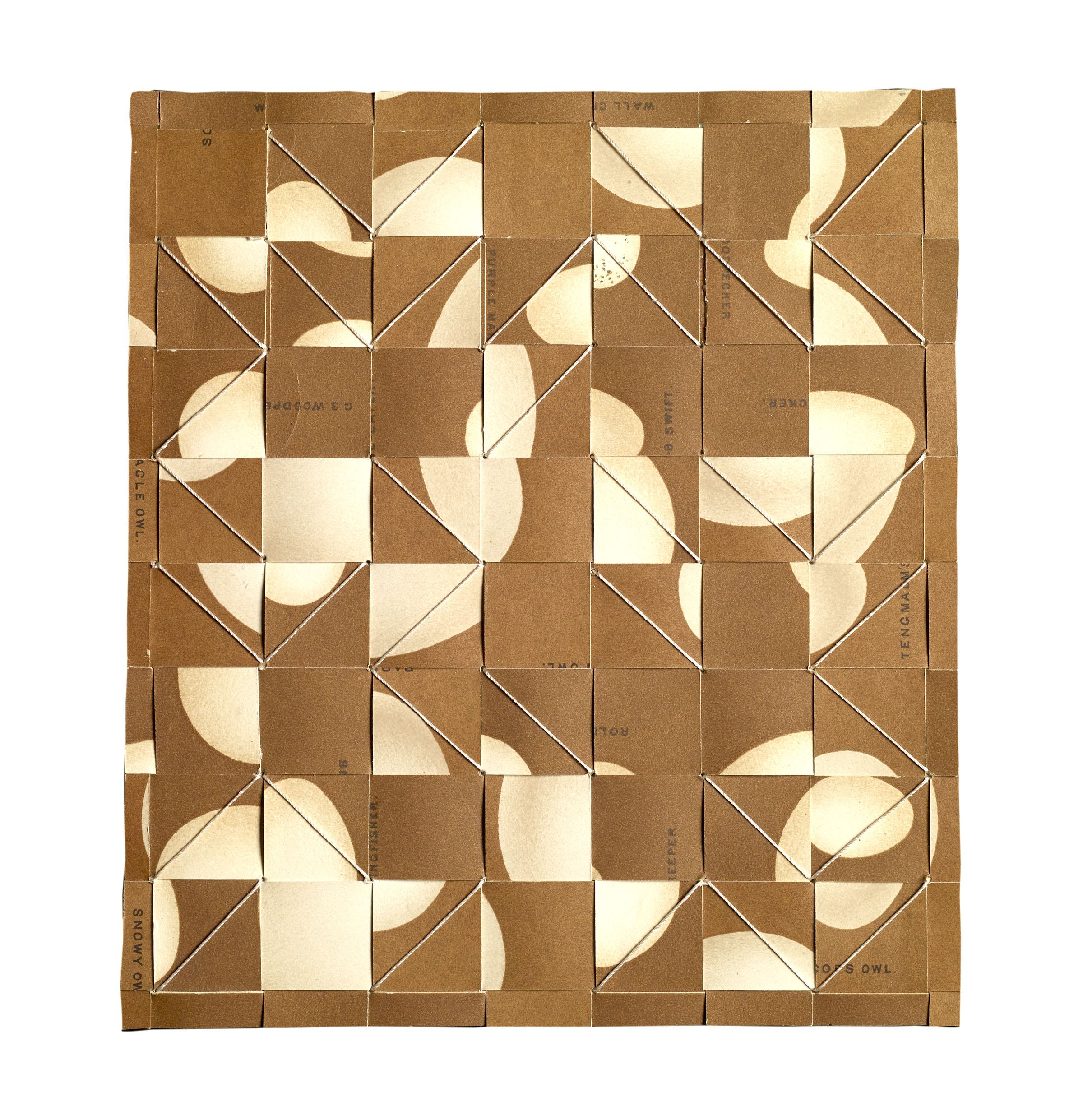 Kunstadt_OVUM XIV-Breakthrough, silk thread, paper- 1880's Gronvold Colour  Bookplates, 6.75 x 6.5 in