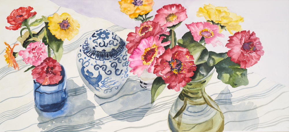 """Mary Licause,-Bounty,-watercolor, 12"""" x 24"""""""