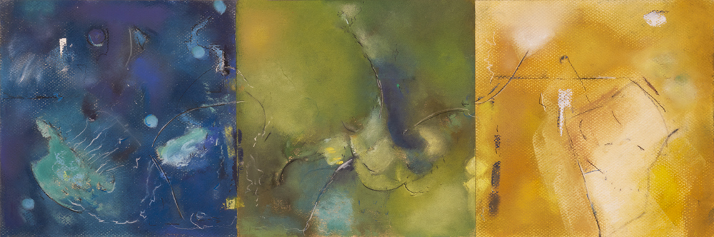 Mary Licause, Colorscapes, pastel, 8 x 24 in.