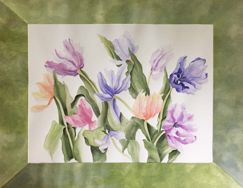 Mary-Licause,-Tulips,-watercolor,-18-x-24-in.-