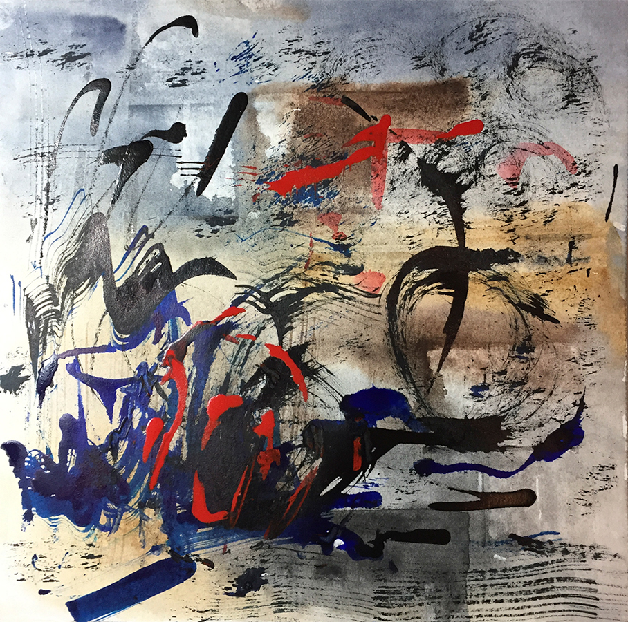Mary Licause, Untitled, watercolor, acrylic, ink