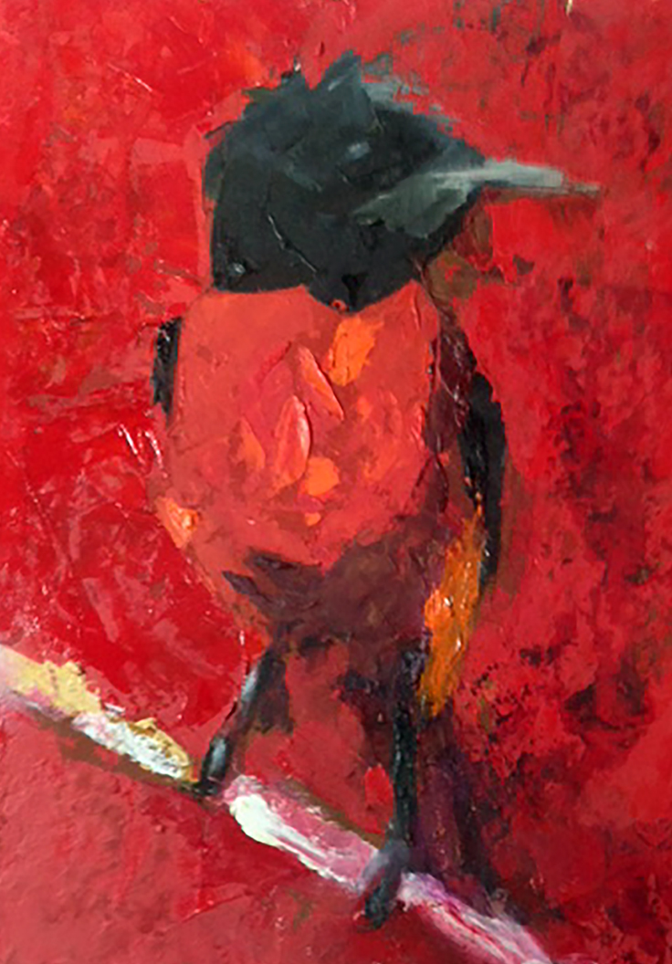 Red Minivet Painting WAAM-d2390f60