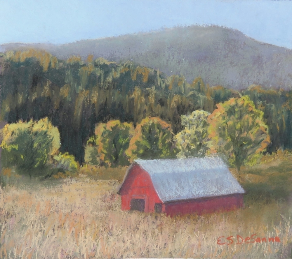 DeSanna, E S, The Barn Down The Hill Pastel 9x12-c85d5236