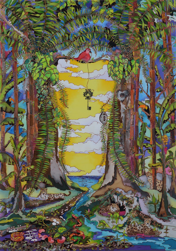 The Key - silk painting-ca5d69fe
