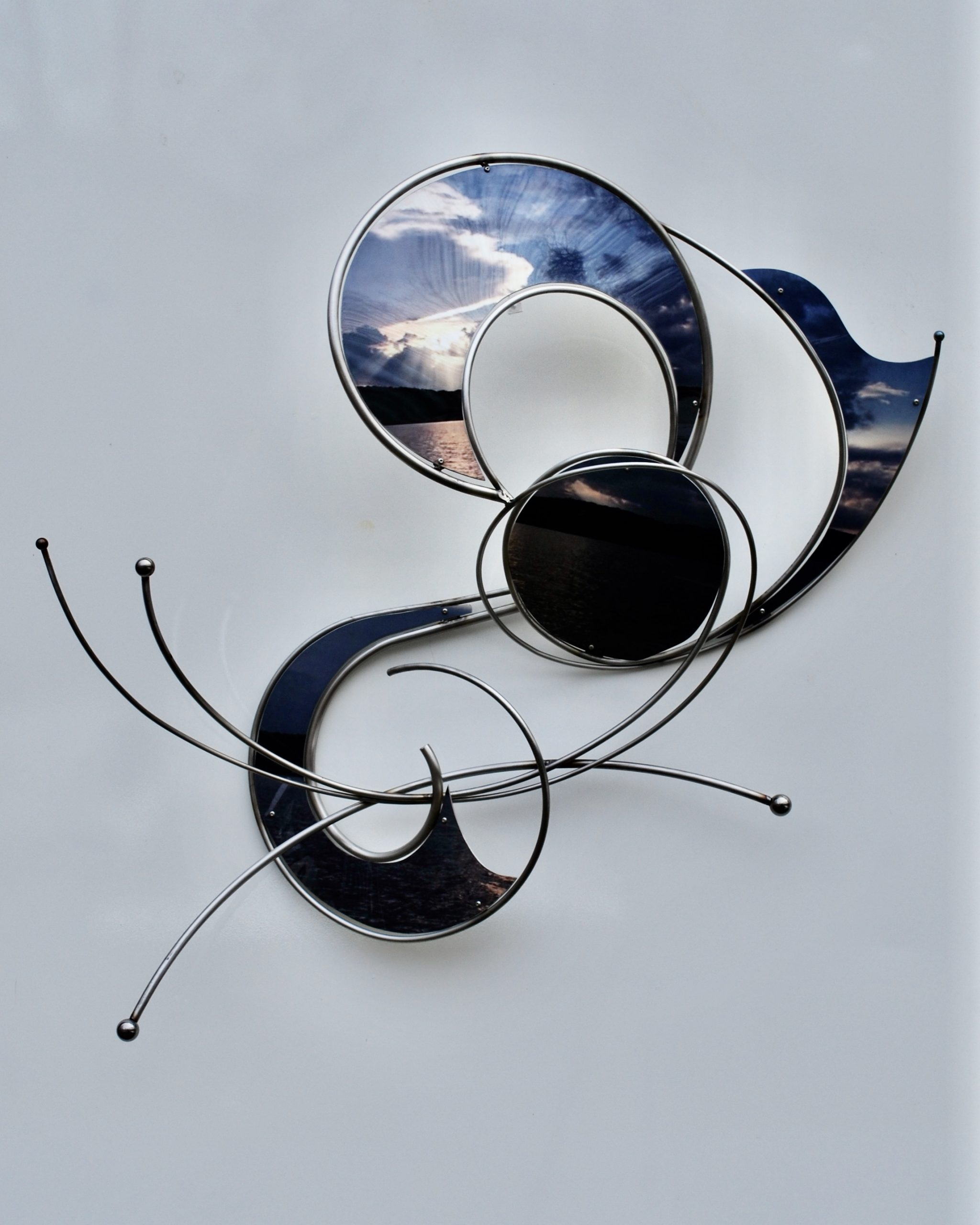 JL2021-2 Blue Sky 31%22x27'xx11%22 $3800.00 Stainless Steel and Printed Aluminum-ac6e7c9b