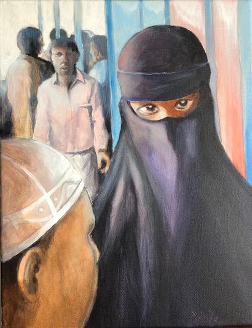 Muslim Woman in Burqa-b28637a1